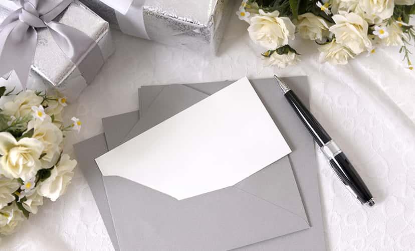 招待のお手紙