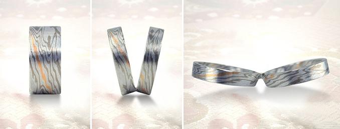 杢目金屋の木目模様の指輪