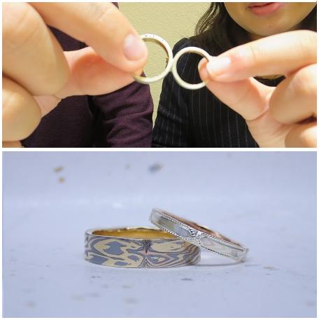 木目金によって作られた指輪(口コミ・評判③)
