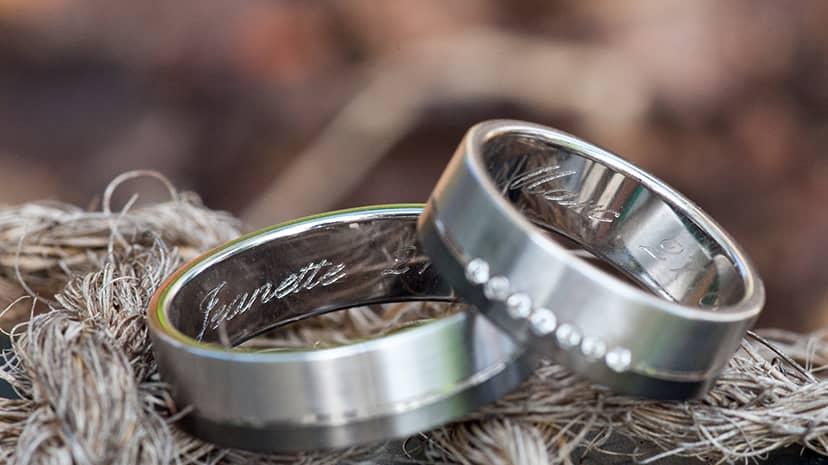 シルバー刻印指輪