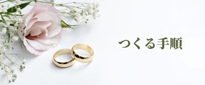 オーダーメイド結婚指輪・婚約指輪をつくる手順