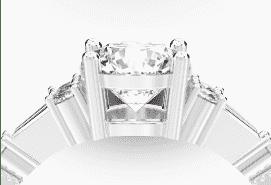 ダイヤつきのマリッジリングデザイン